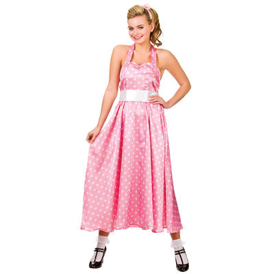Ladies 50s Bopper Dress Fancy Dress Halloween Costume