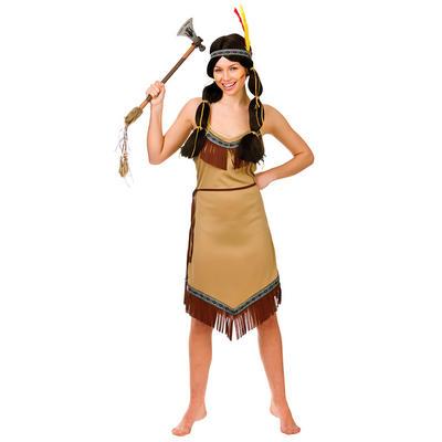 Ladies Native Indian Fancy Dress Halloween Costume