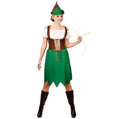 Ladies Robin Hood Woman Fancy Dress Halloween Costume