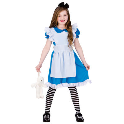 Girls Classic Storybook Alice Fancy Dress Costume