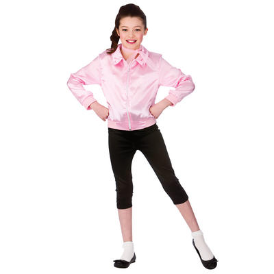 Girls 1950s Pink T-Bird Cutie Fancy Dress Costume