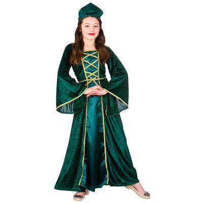 Girls Medieval Tudor Princess Halloween Fancy Dress Costume