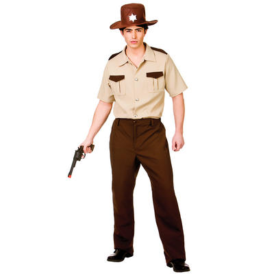 Adults U.S Sheriff Fancy Dress Up Party Costume Outfit New