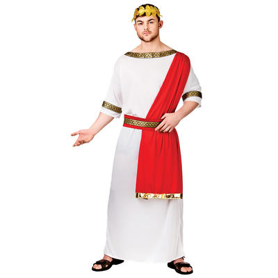 Adults Roman Emperor Fancy Dress Up Party Costume New