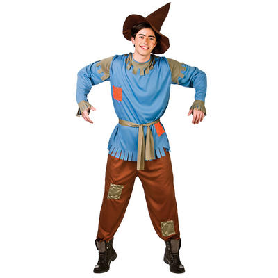 Adults Scarecrow Fancy Dress Up Party Costume Outfit New