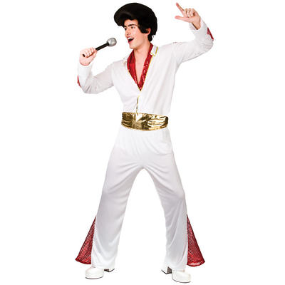 Adults King Of Rock n Roll Fancy Dress Up Party Costume