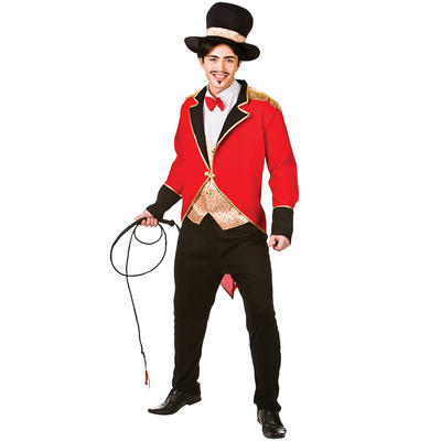 Adults Circus Ringmaster Fancy Dress Up Party Costume
