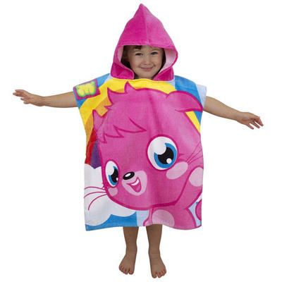 Childrens Moshi Monsters Hooded Poncho Beach Swimming Holiday Towel New - Poppet