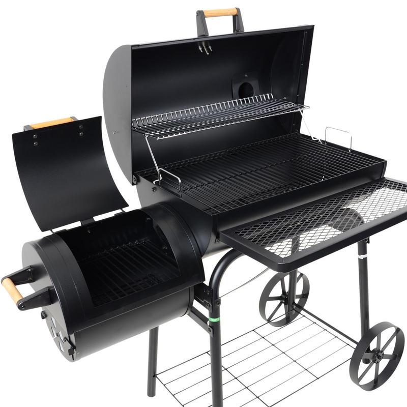 barrel smoker charcoal wood garden bbq barbecue outdoor grill. Black Bedroom Furniture Sets. Home Design Ideas