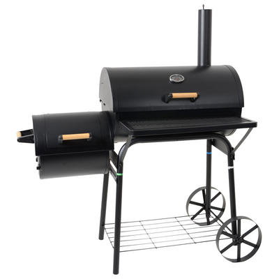 Azuma Steel Barrel Charcoal Smoker BBQ Wood Garden Outdoor Grill