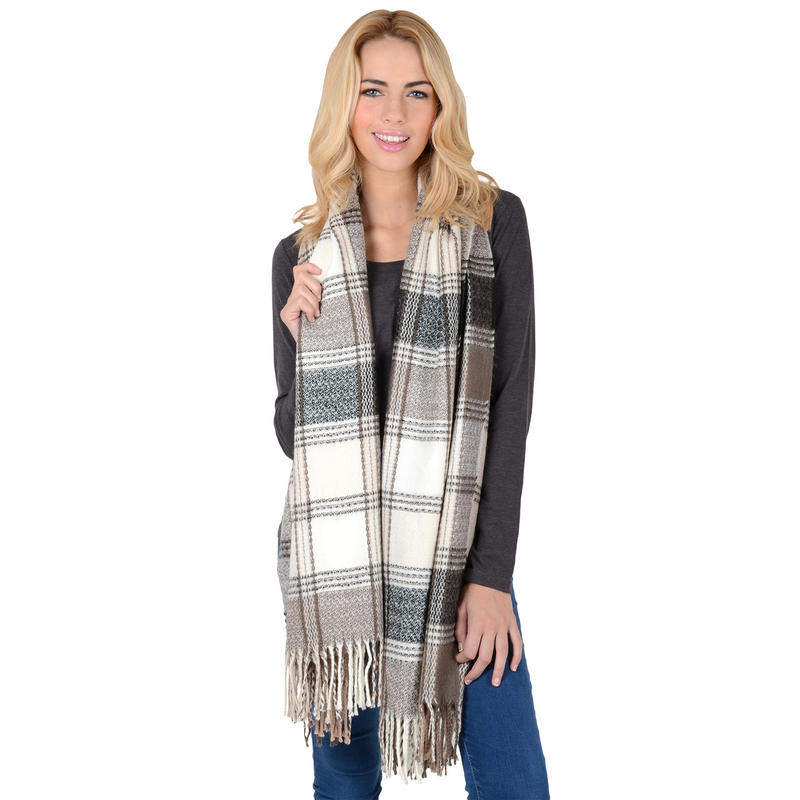lewis woven check scarf stole shawl