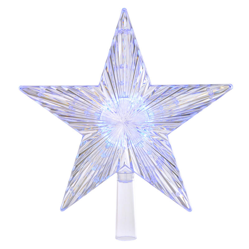 colour changing led light up star christmas tree topper. Black Bedroom Furniture Sets. Home Design Ideas