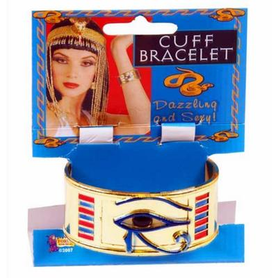 Wicked Cleopatra Gold Cuff Bracelet Fancy Dress Halloween Costume Party Accessory New
