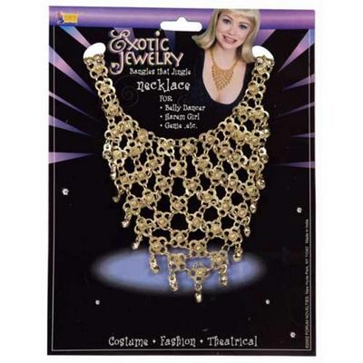 Exotic Jewelry Belly Dancer Gold Necklace Fancy Dress Prop