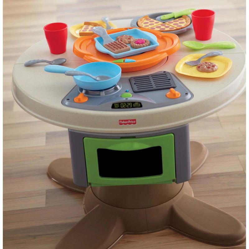 childrens fisher price servin 39 suprises 2 in 1 kitchen table