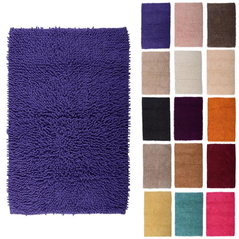 Cheap Washable Rugs Uk: Odyssey Chenile Cotton Shower Bath Mat Bathroom New
