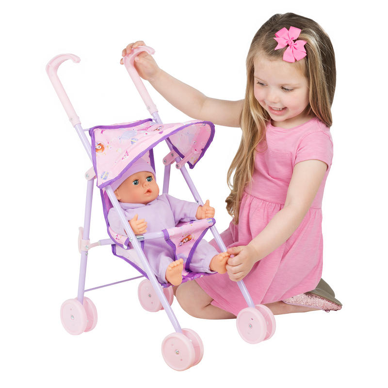 Girl Toy Figures : Disney sofia the first mini dolls stroller pram girls toy
