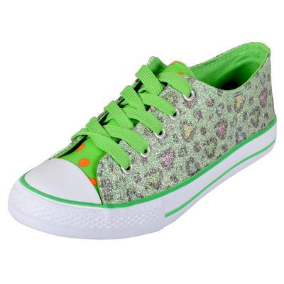 SLIGHT SECONDS - DEKS Ladies Glitter Plimsolls Canvas Sneaker Shoes