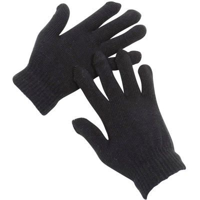 Ladies Black One Size Magic Stretch Winter Outdoor Gloves