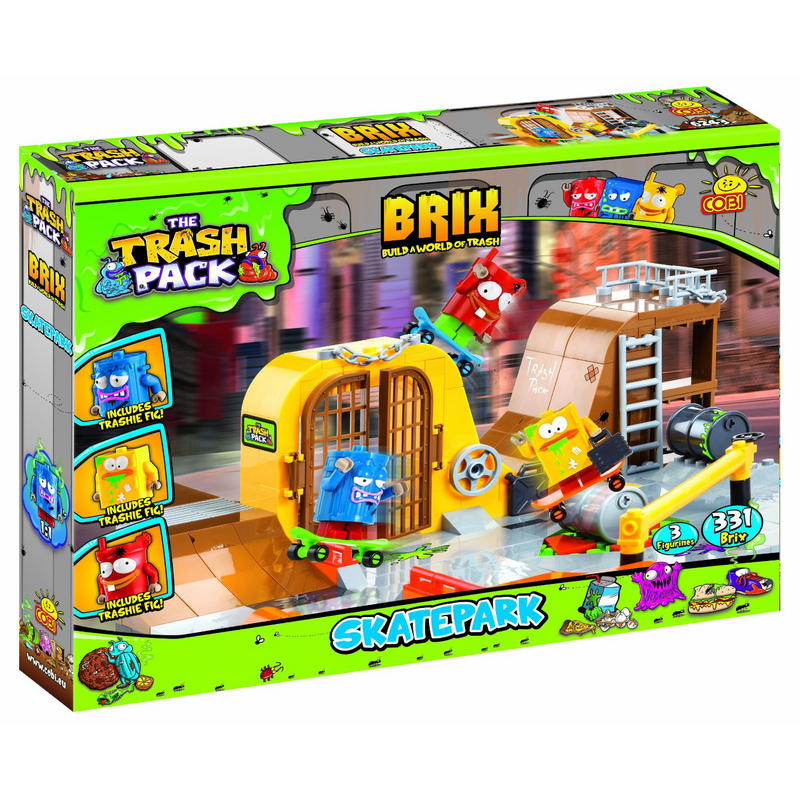 Toys For Age 6 : Childrens trash pack brix skatepark construction toy age