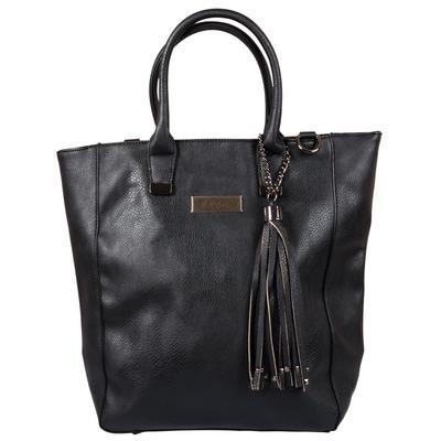 Ladies Black Pia Rossini Provencal Faux Leather Handbag