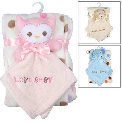 Baby Blanket & Toy Gift Set Christening New Born Present