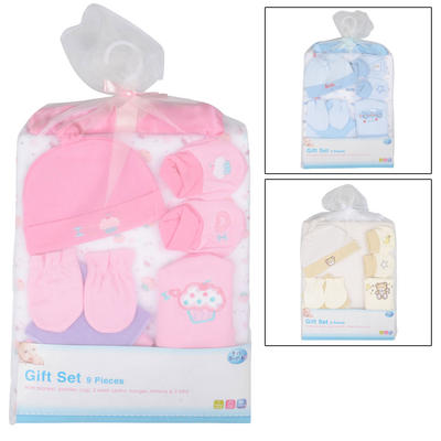9 Piece Baby Gift Set Christening New Born Present Suitable For 0+ Months