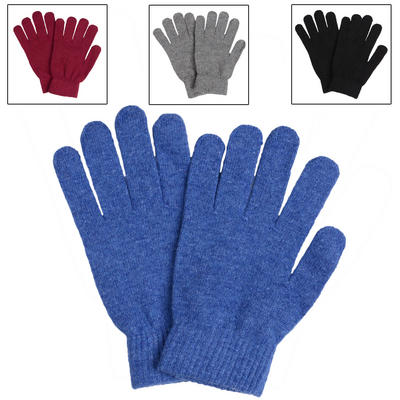 1 Pair Of Ladies Wool Mix Stretchy Magic Gloves