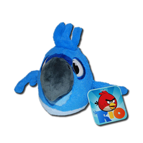 Angry Birds Toys With Sound : Angry birds rio blu bird inch plush toy with sound