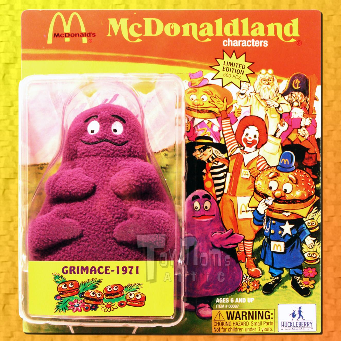 mcdonalds mcdonaldland 2007 sdcc exclusive 1971 grimace ebay