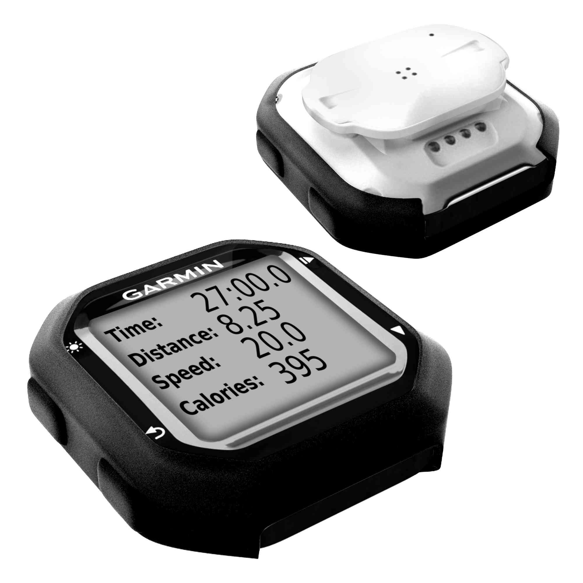 Black Tuff-Luv Silicone case and screen protection for Garmin Edge 20//25
