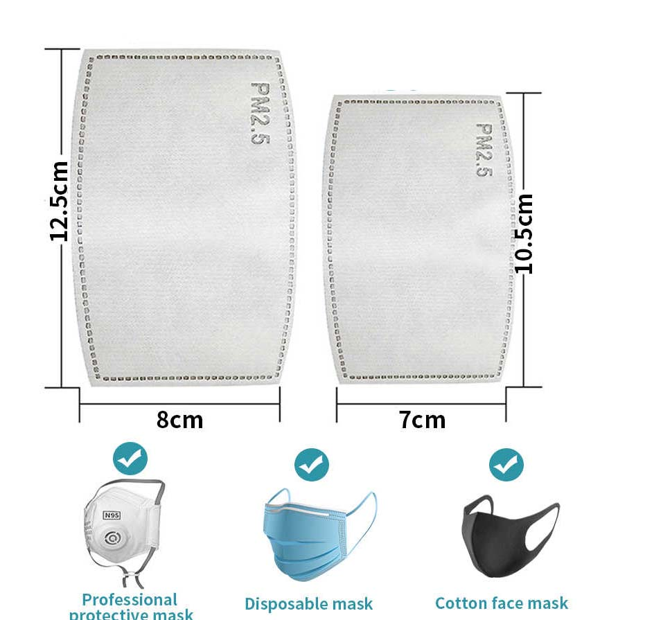 TUFF LUV 5 x Replacement PM2.5 5-layer Carbon Filter for Ventilated Face Cover-A