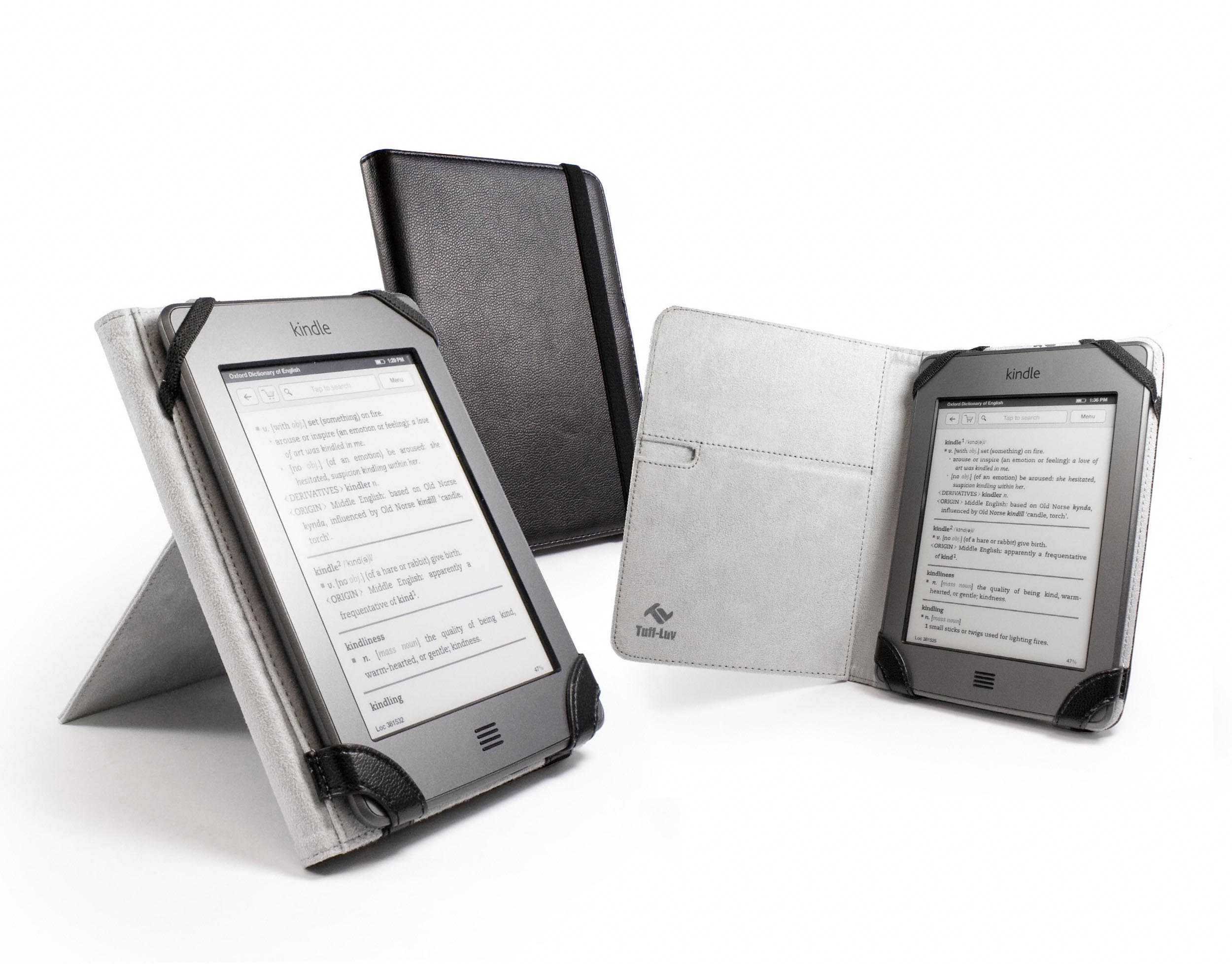 tuff luv book stand case cover for kindle touch