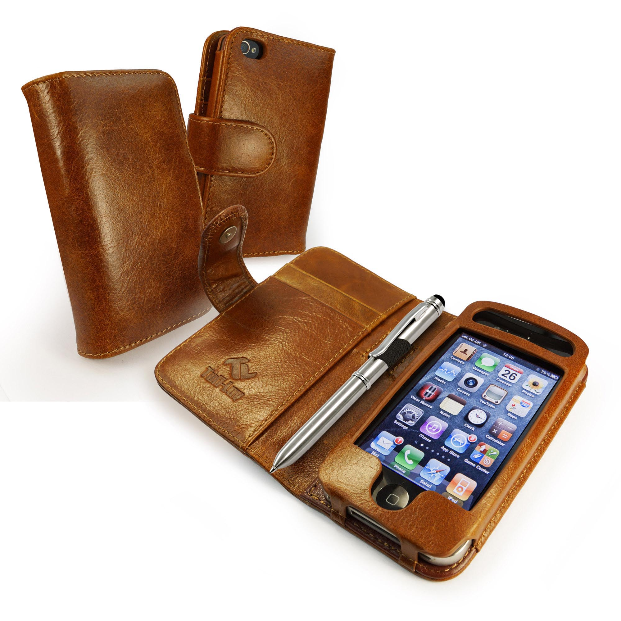 iphone 4 wallet case tuff vintage leather wallet style for iphone 4s 3518