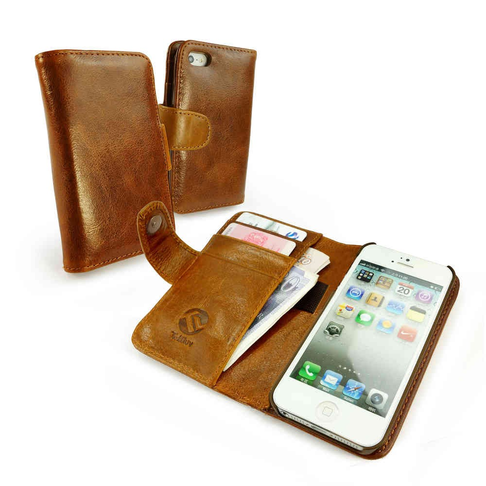tuff luv vintage leather wallet style case cover for iphone 5 5sdetails about tuff luv vintage leather wallet style case cover for iphone 5 5s se brown