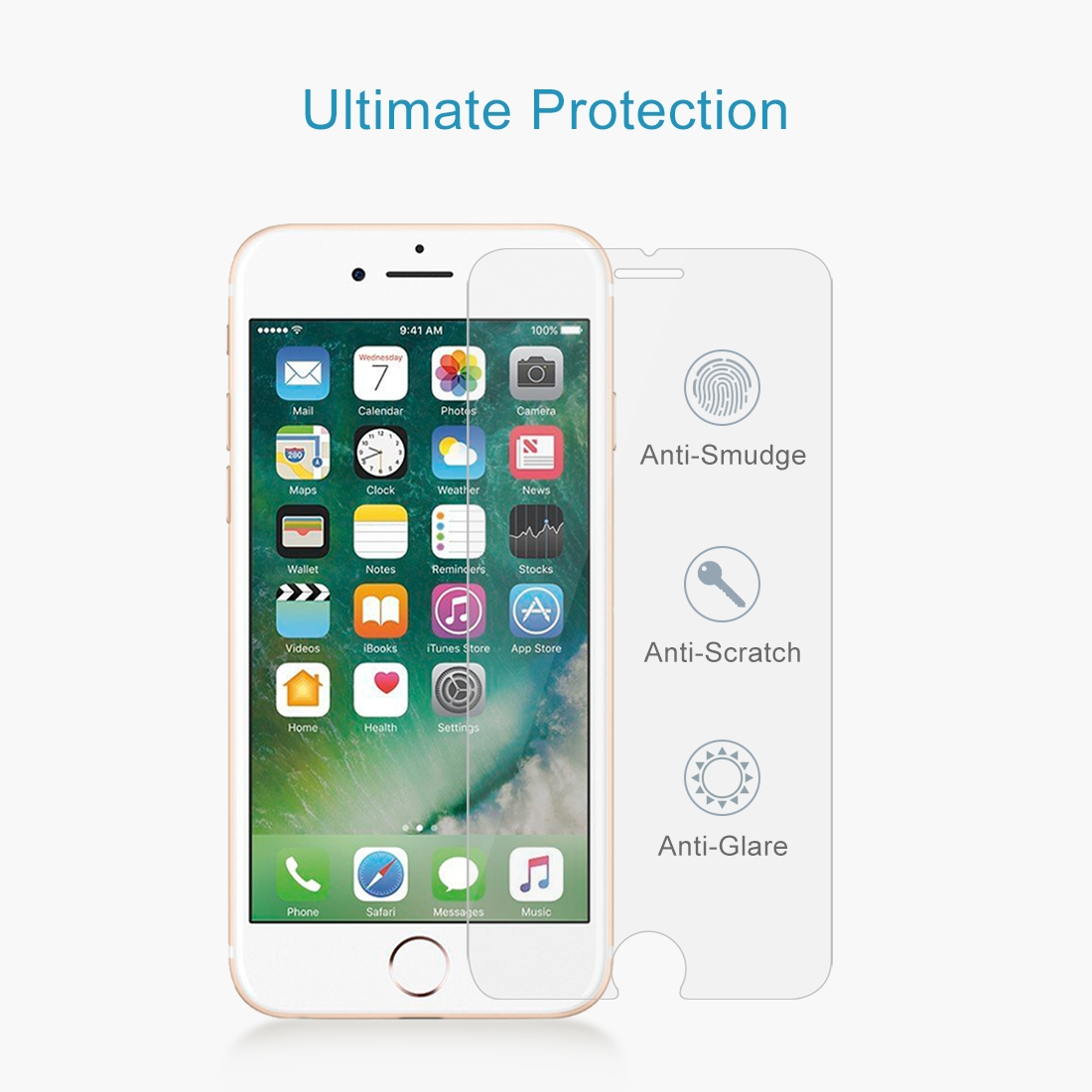 Details about TUFF LUV Radian 2.5D Tempered Tuff-Glass for Apple iPhone 7 Plus / 8 Plus -Clear