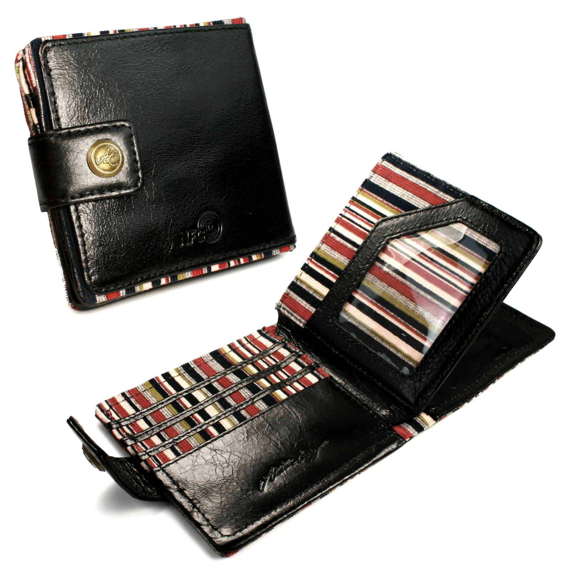 2b57c248477e6c Alston Craig Vintage Leather RFID Blocking NFC ID Mens Tec wallet   eBay