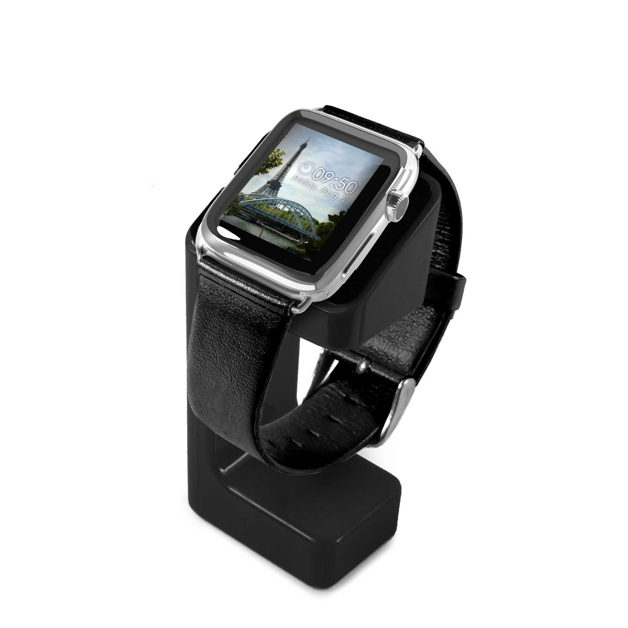 orologio 2f601 23c85 Details about Tuff Luv Modellato di Ricarica Stand per Apple Orologio Serie  1/2/3- Nero