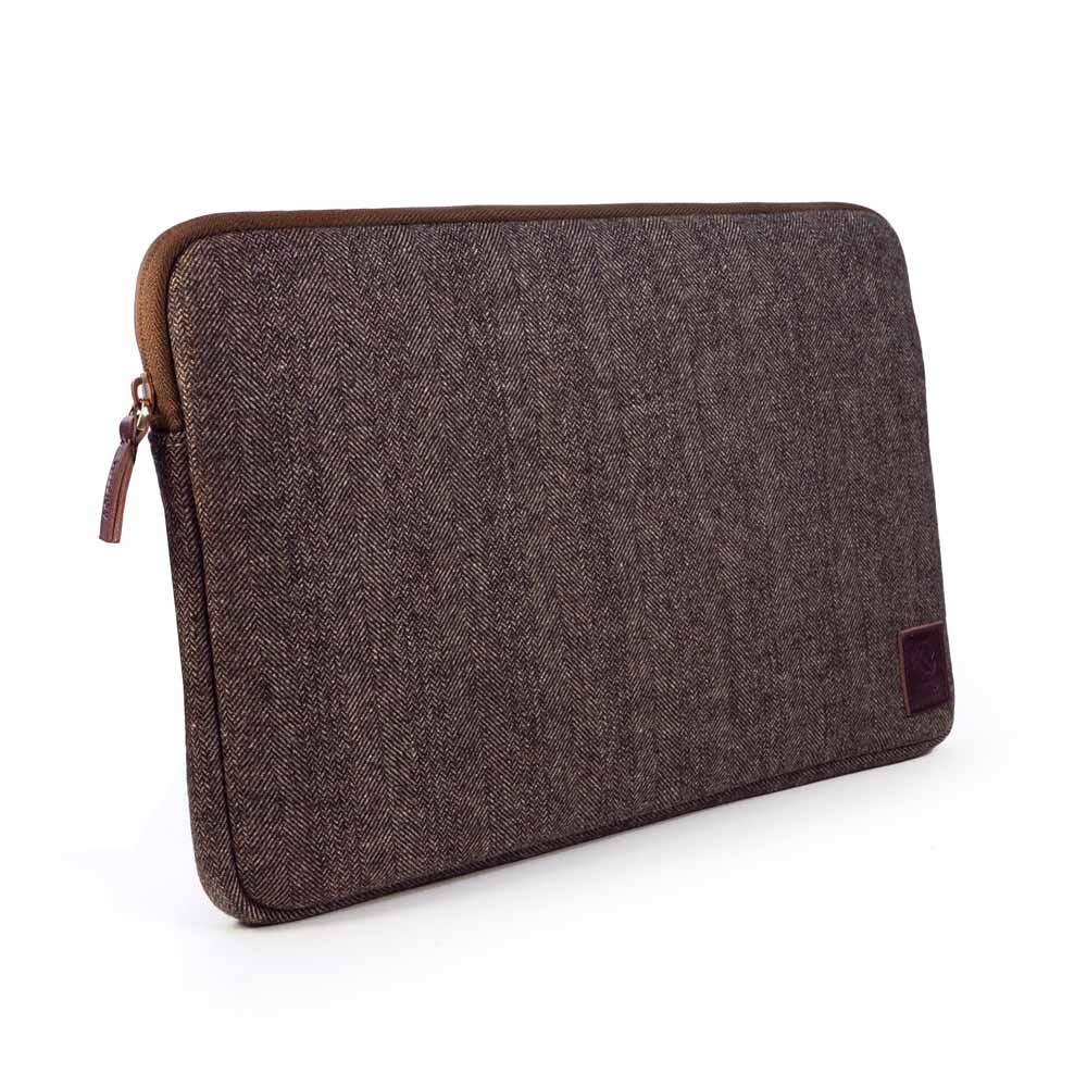 "Brown Tuff-Luv Herringbone Tweed protective sleeve case cover 12/"" Macbook"