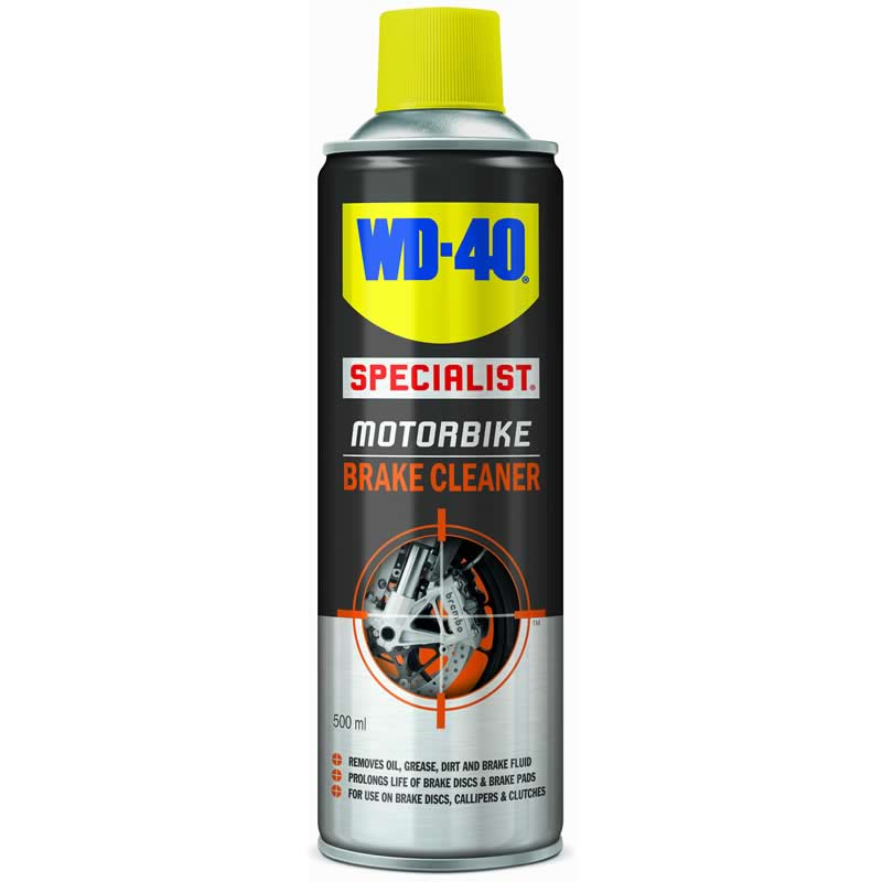 wd 40 specialist motorbike brake cleaner 500ml clearance. Black Bedroom Furniture Sets. Home Design Ideas