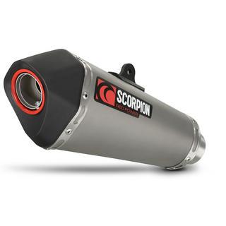 Scorpion Serket Taper Satin Titanium Oval Exhaust Kawasaki NINJA 300 System 12>Current