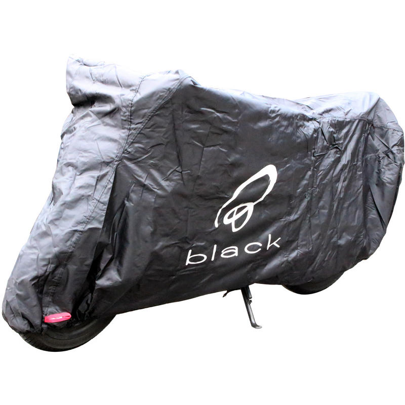 Black Sonar Motorcycle Cover Large