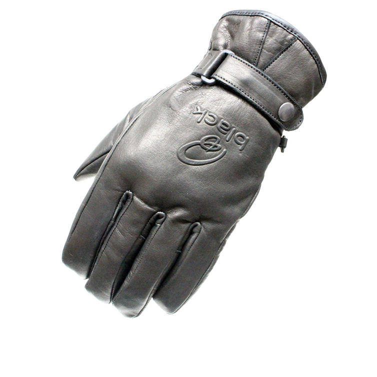 Black Echo Leather Motorcycle Gloves