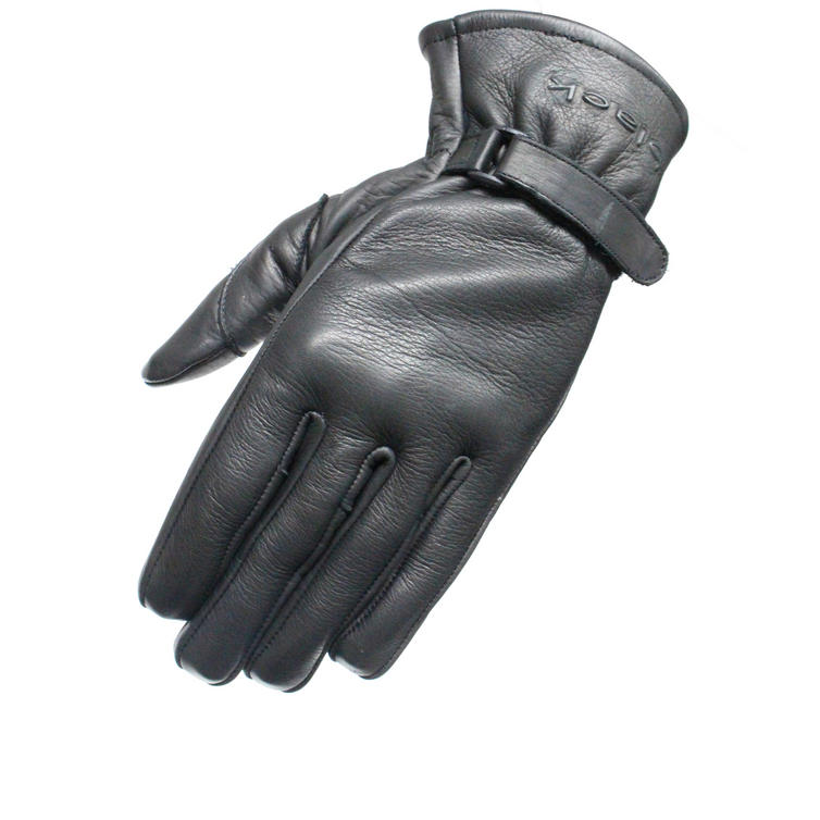 Black Axel Leather Motorcycle Gloves