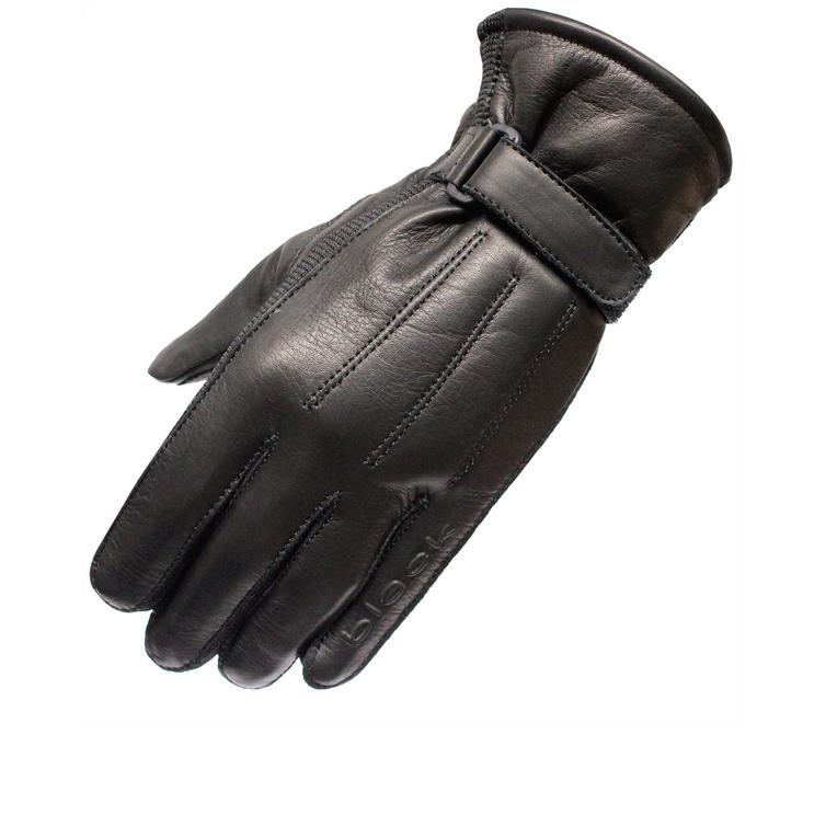 Black Vapour Leather Motorcycle Gloves
