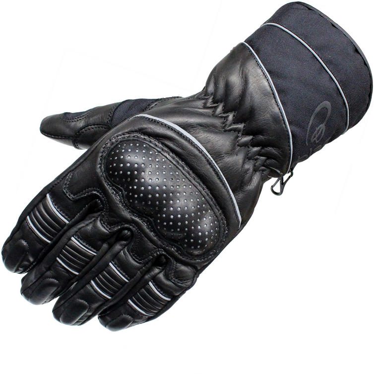 Black Vector Leather Motorcycle Gloves