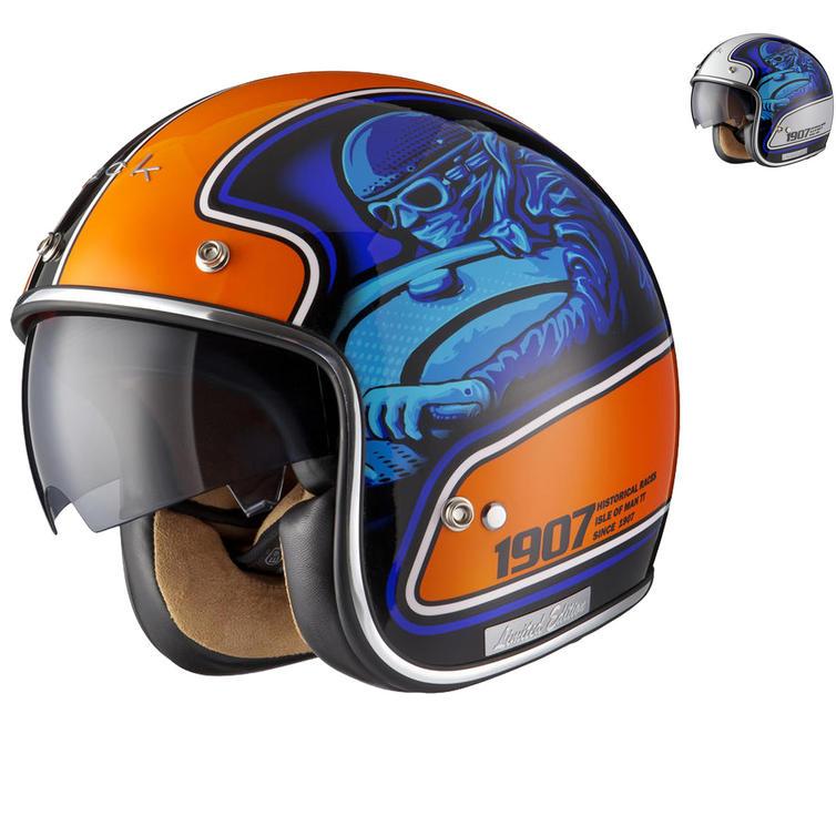 Black Moto-Racer Limited Edition Motorcycle Helmet