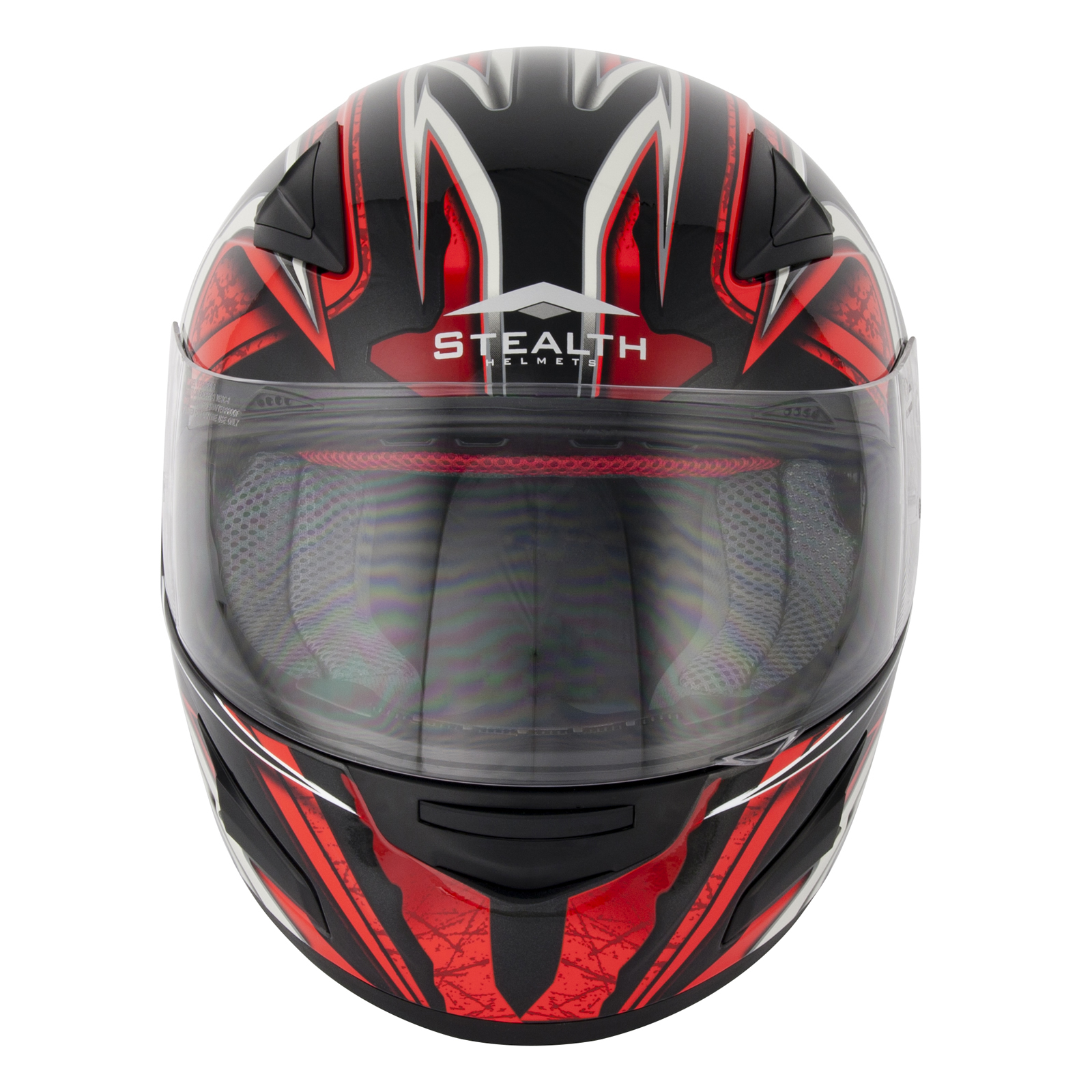 STEALTH HD188 DAISHO RED FULL FACE MOTORCYCLE MOTORBIKE BIKE HELMET SUN VISOR
