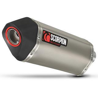 Scorpion Serket Parallel Satin Titanium Oval Exhaust Suzuki DL 650 V-Strom 2012 - 2016