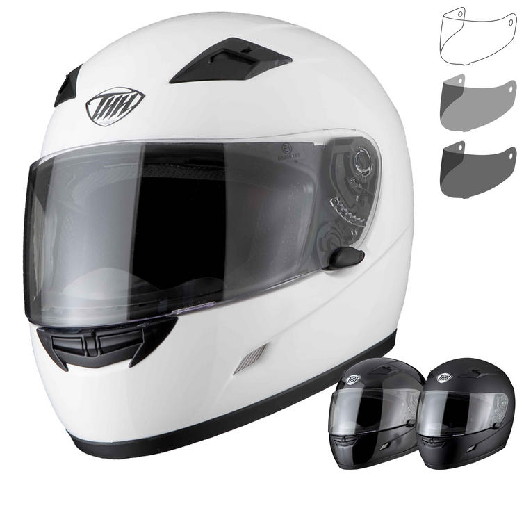 THH TS-39 Plain Full Face Helmet With Additional Visor
